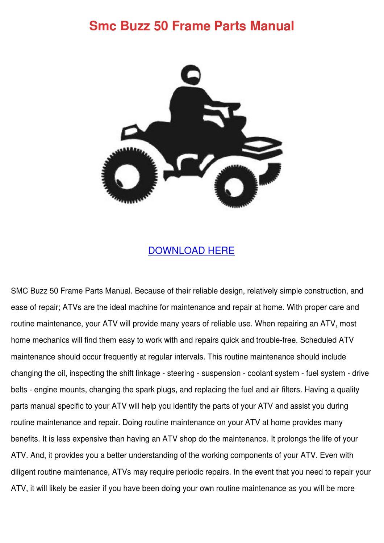 Smc Buzz 50 Frame Parts Manual by Lecia Szwejbka - issuu