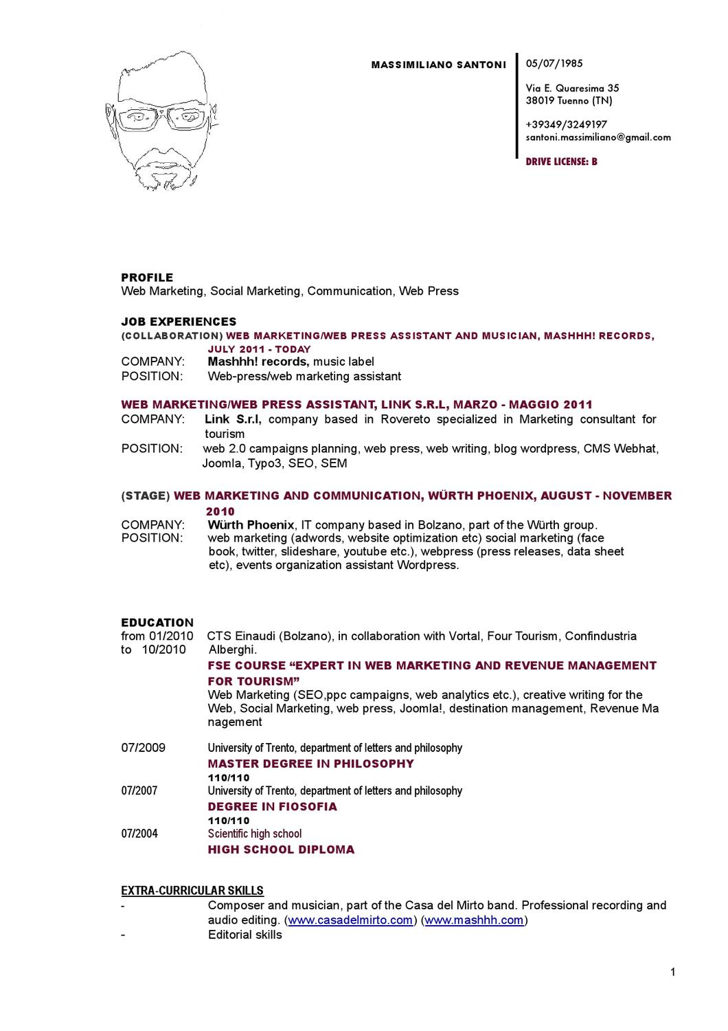massimiliano santoni resume by massimiliano santoni