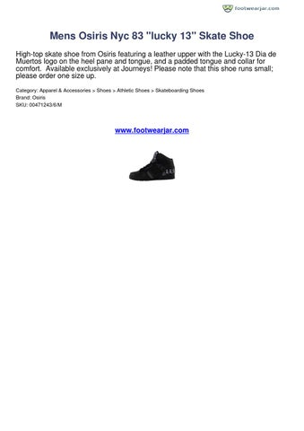 175efe8f913 Mens Osiris Nyc 83 lucky 13 Skate Shoe Footwearjar Review 14559 by ...