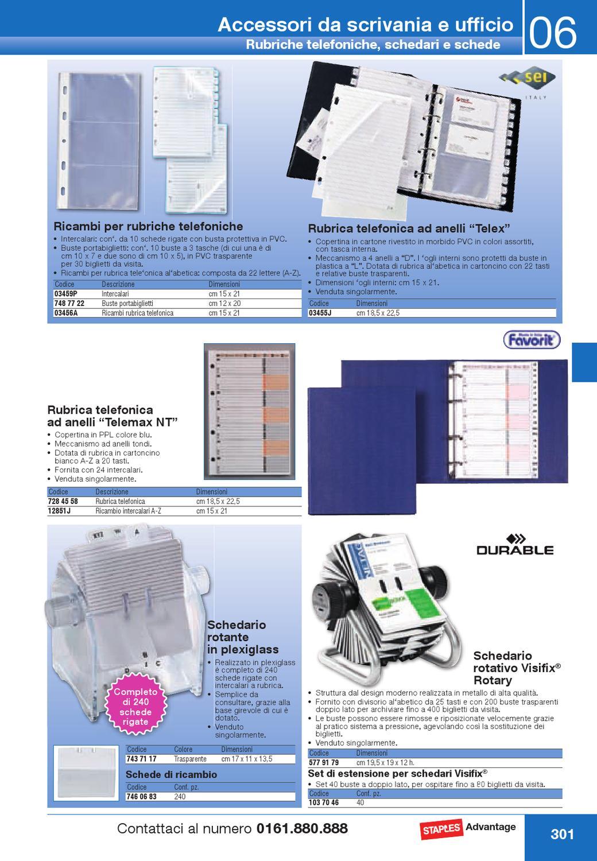 Schedario Rotativo Per Biglietti Da Visita.Abb0413 By Staples Mondoffice Issuu