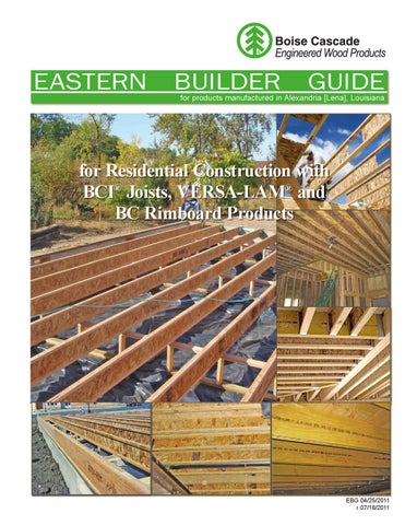 Boise Cascade Eastern Builder Guide By Meek Lumber Company