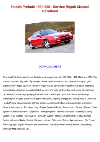 Page Thumb Large on Honda Prelude Manual Transmission Diagram