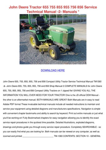 page_1_thumb_large john deere tractor 655 755 855 955 756 856 se by cassie schlau issuu