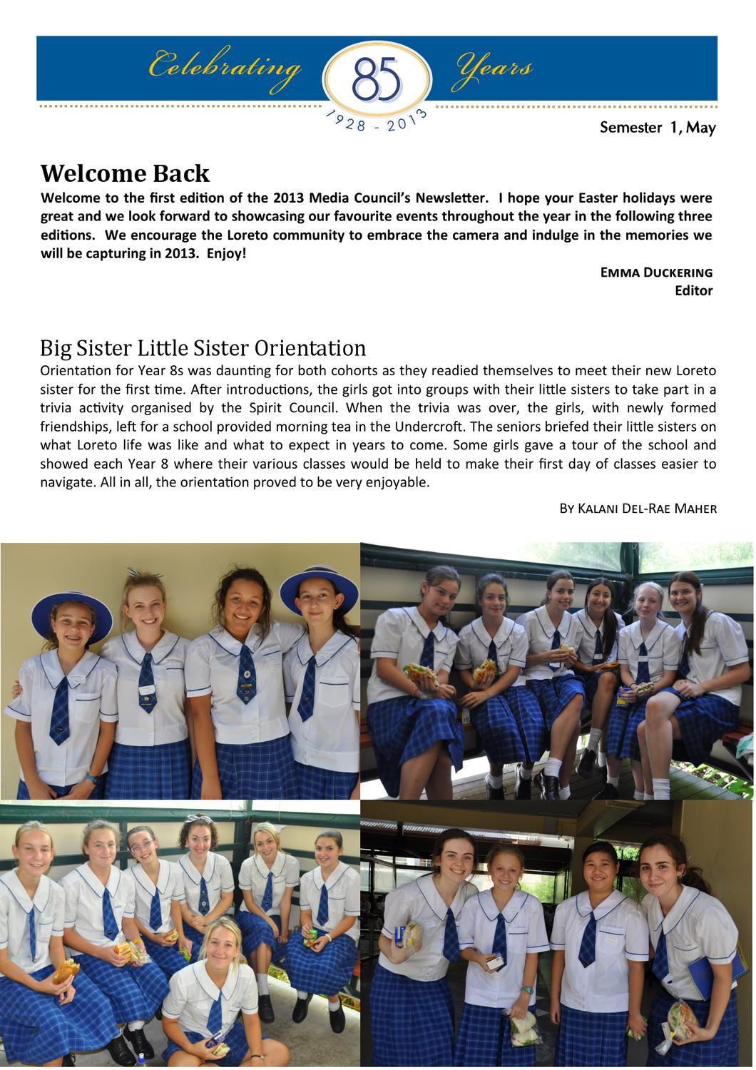 Media Council Newsletter Term 1, 2013 by Loreto College
