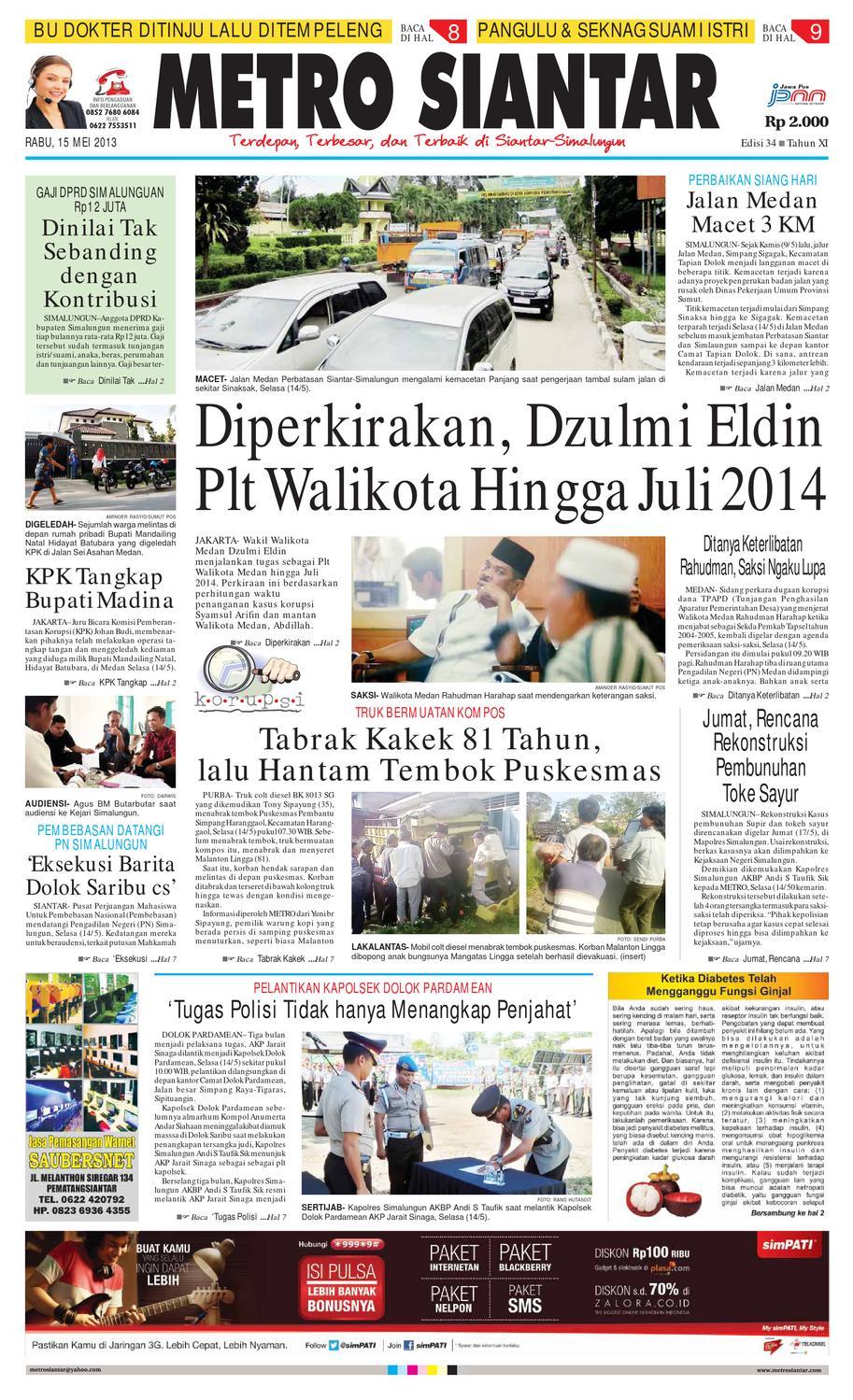 Epaper Metro Siantar Online By Issuu Krezi Kamis 17 Bantal Leher Bulu C House