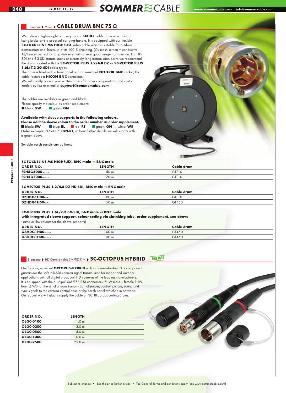 Sommer Cable RUND04 Frontblech 4 D-Bohrung GT310 HT Kern-Ø 240 SK-Modelle Reels