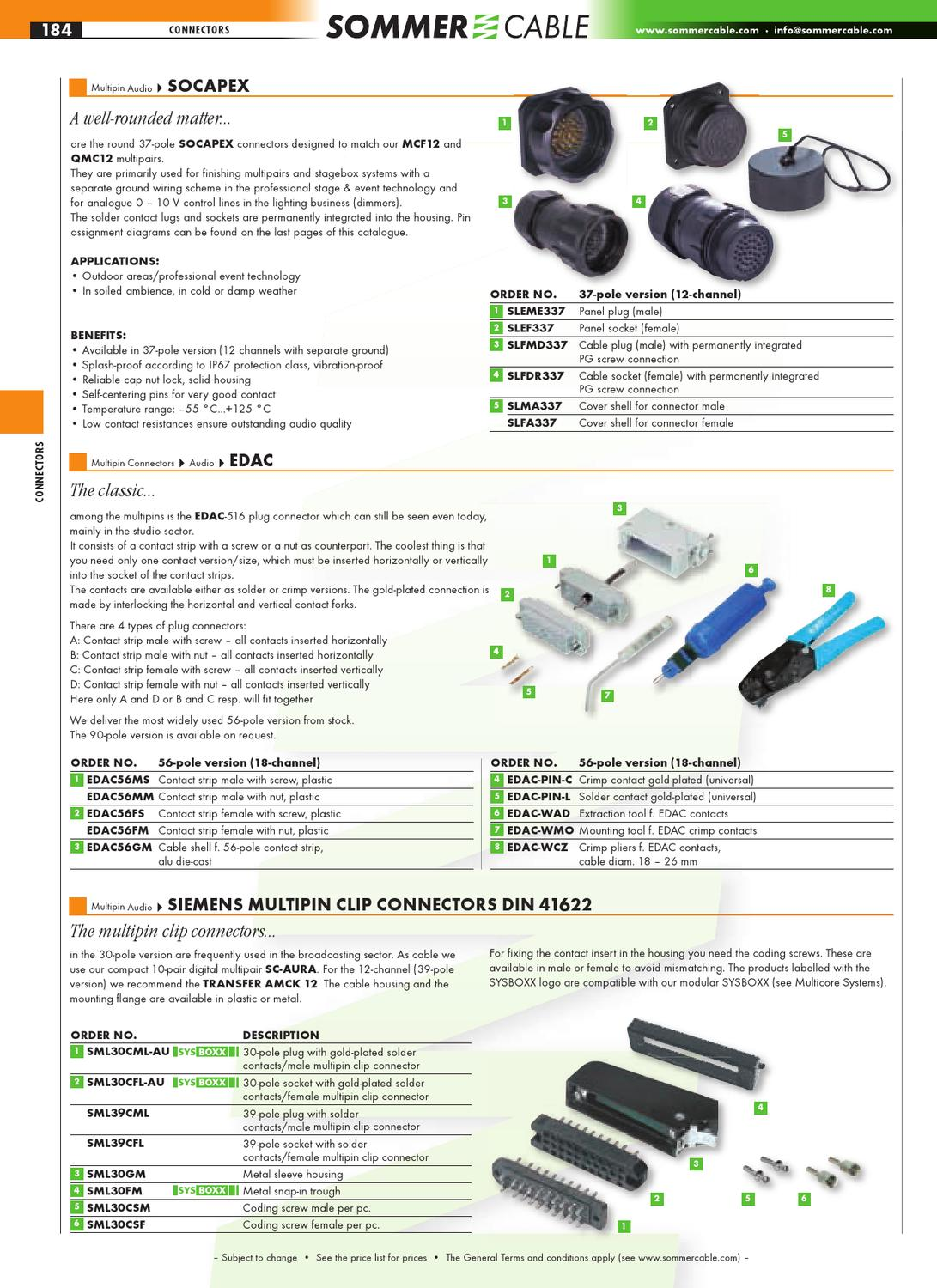 Sommer Cable Catalog Deel 2 - Plug Connectors + Premade