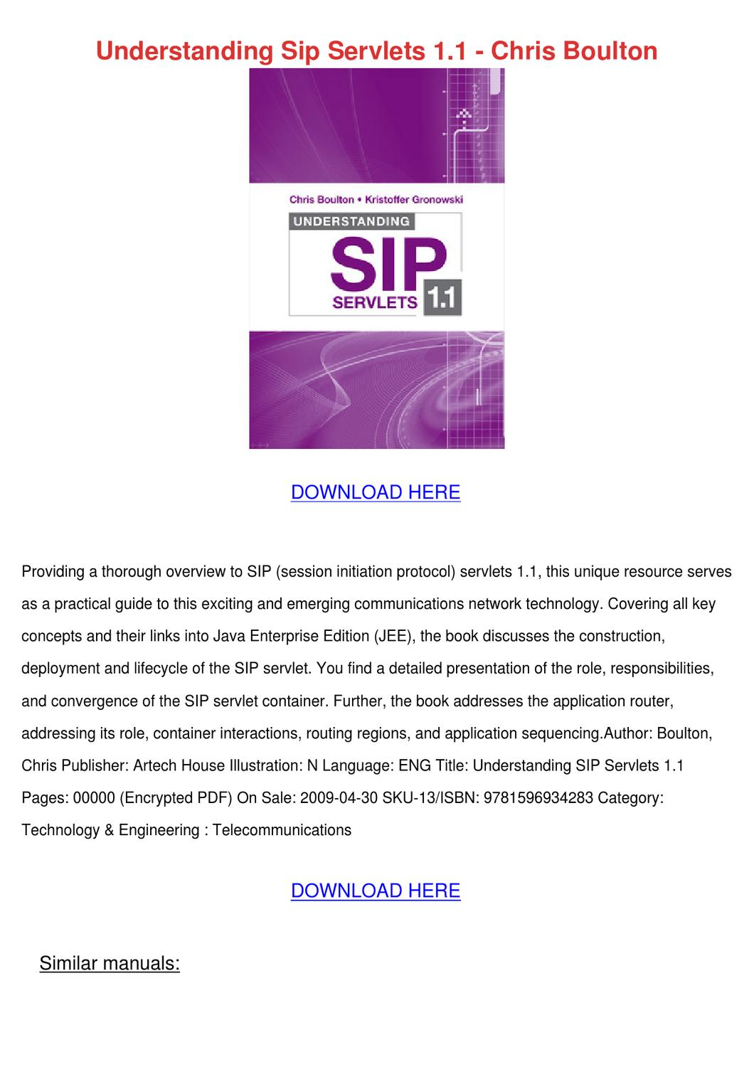 sip understanding the session initiation protocol fourth edition pdf download
