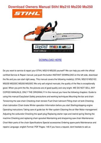 Stihl Manuals Free Download
