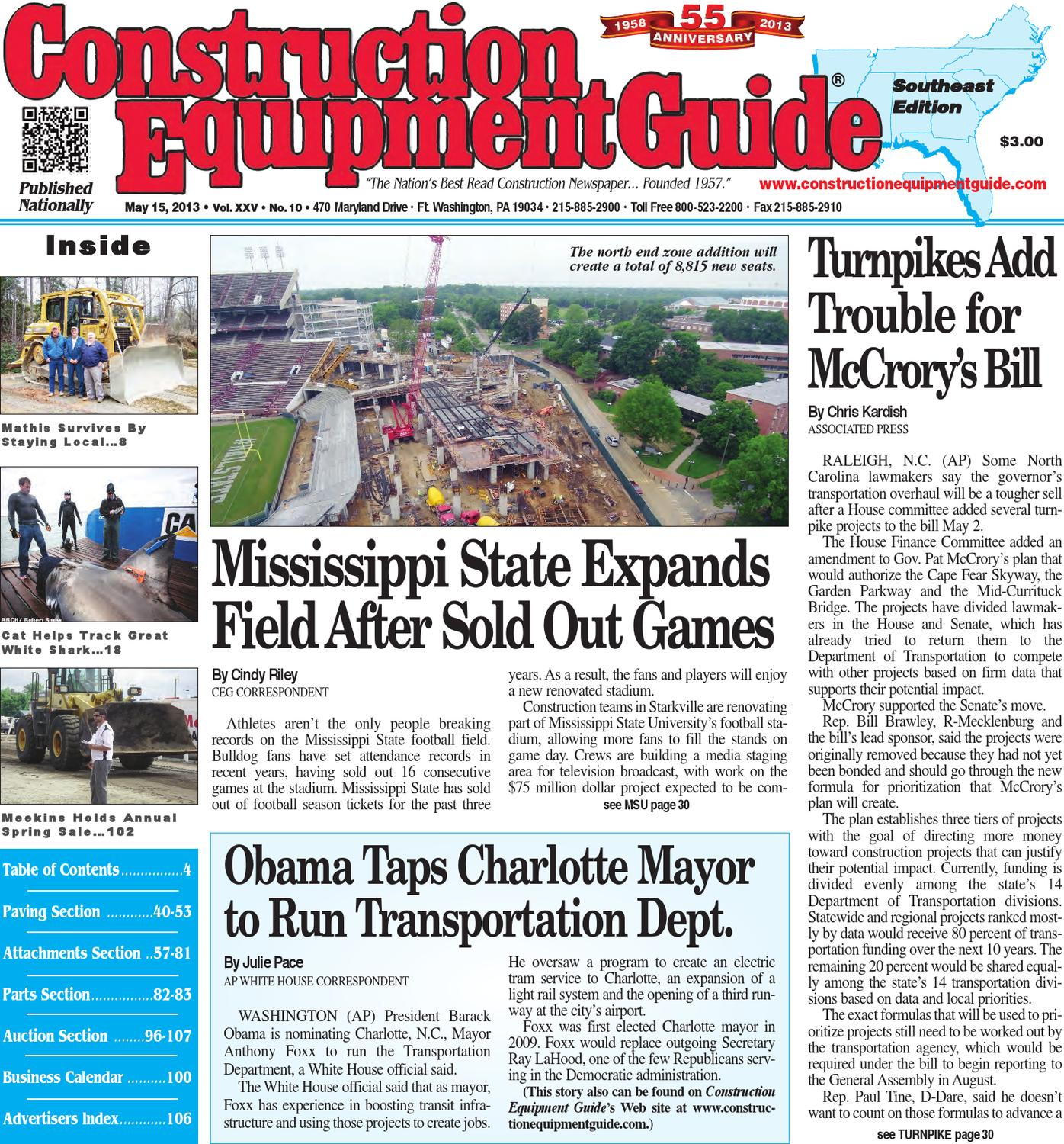 Southeast 10 2013 by Construction Equipment Guide issuu