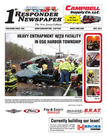 1st Responder Newspaper New Jersey May Edition by Belsito