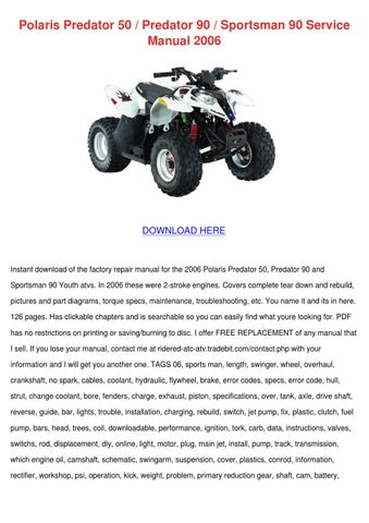 polaris predator 50 predator 90 sportsman 90 by gale deppner issuu rh issuu com polaris predator 50 service manual pdf polaris predator 50 service manual pdf