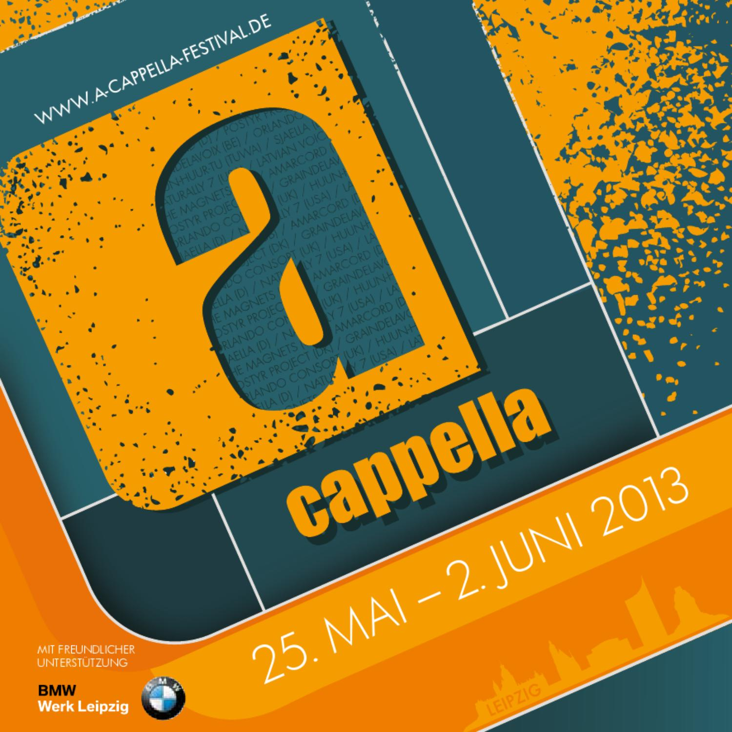 Festivalmagazin a cappella 2013 by DREIECK MARKETING Maud