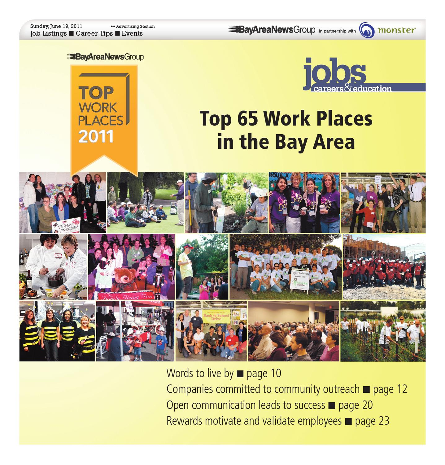 Bay Area News Group Top Workplaces 2011 publication by MediaNews