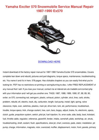yamaha exciter 570 snowmobile service manual by sheryll dornak issuu rh issuu com Yamaha Exciter II Yamaha Exciter Mod