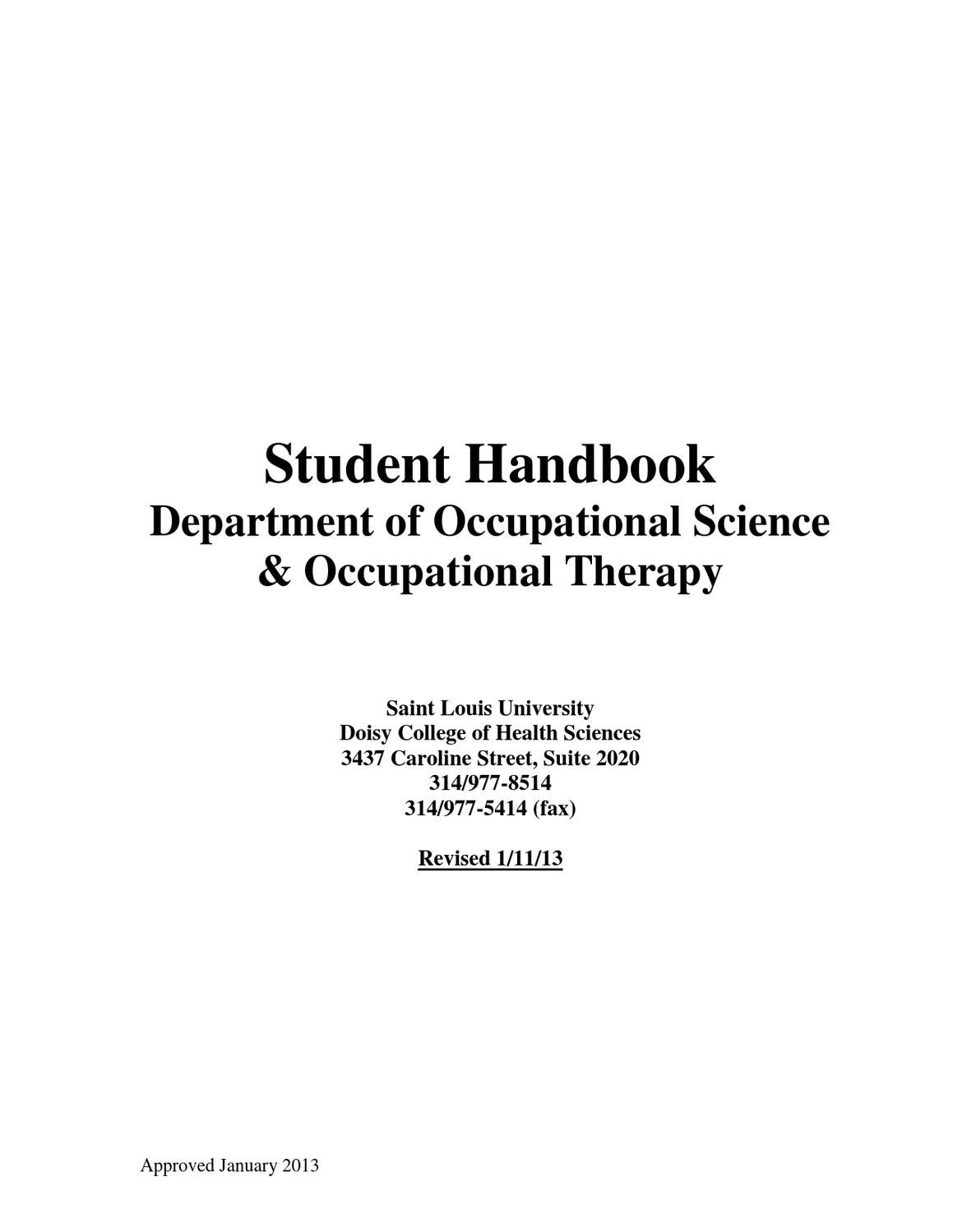 Occupational Science And Occupational Therapy Handbook By Doisy