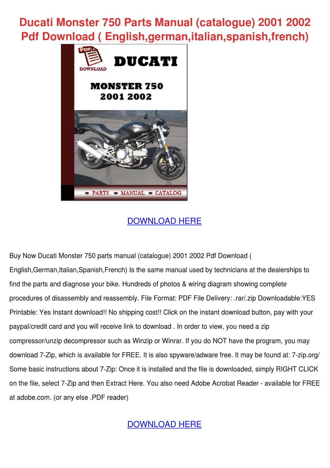 2002 Gsxr 1000 Wiring Diagram Ducati Monster 750 Service Manual Schematic Diagrams Parts Catalogue 200 By Maxie Chomka Issuu
