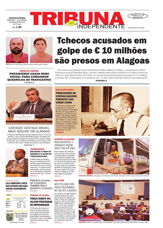 be3e18f13 Edição número 1744 - 16 de maio de 2013 by Tribuna Hoje - issuu