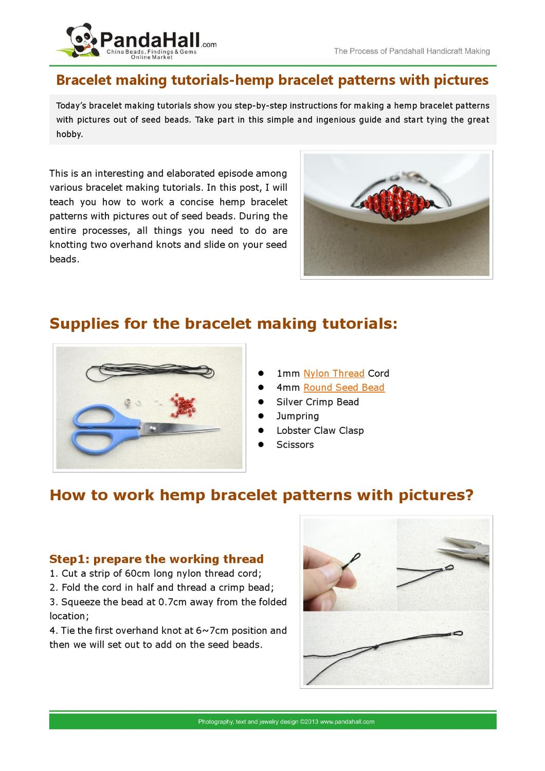 Bracelet Making Tutorials Hemp Bracelet Patterns With Pictures By Mike Stone Issuu