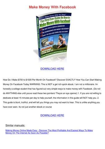 how facebook earn money pdf