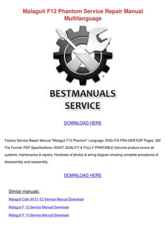 malaguti f12 phantom service repair manual mu by karima spinale issuu rh issuu com Western Star Phantom Harley Davidson Phantom