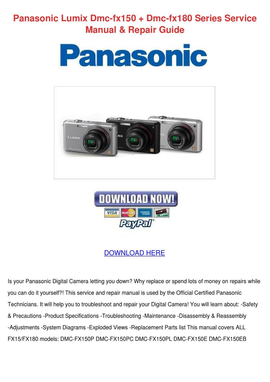 Panasonic Lumix Dmc Fx150 Dmc Fx180 Series Se by Scarlet Tabron ...