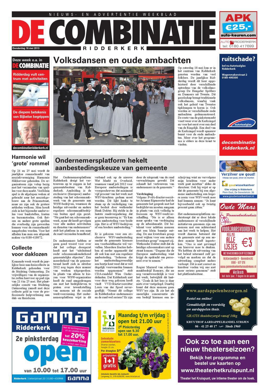 Bankstellen Ridderkerk Noordenweg.16 05 2013 Combinatie By Bar Uitgeverij Issuu