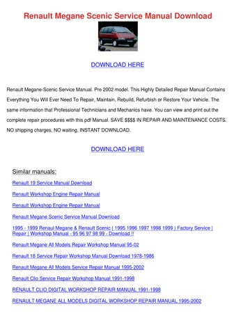 Renault megane scenic service manual download by scarlet tabron issuu page 1 renault megane scenic service manual download publicscrutiny Image collections