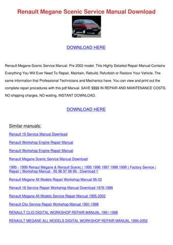 renault megane manual