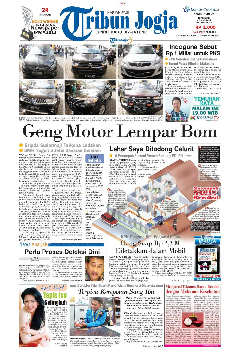 tribunjogja 16 05 2013 by tribun jogja issuu #2: page 1