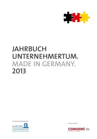 Jahrbuch Unternehmertum 2013 by IQB Career Services AG - issuu