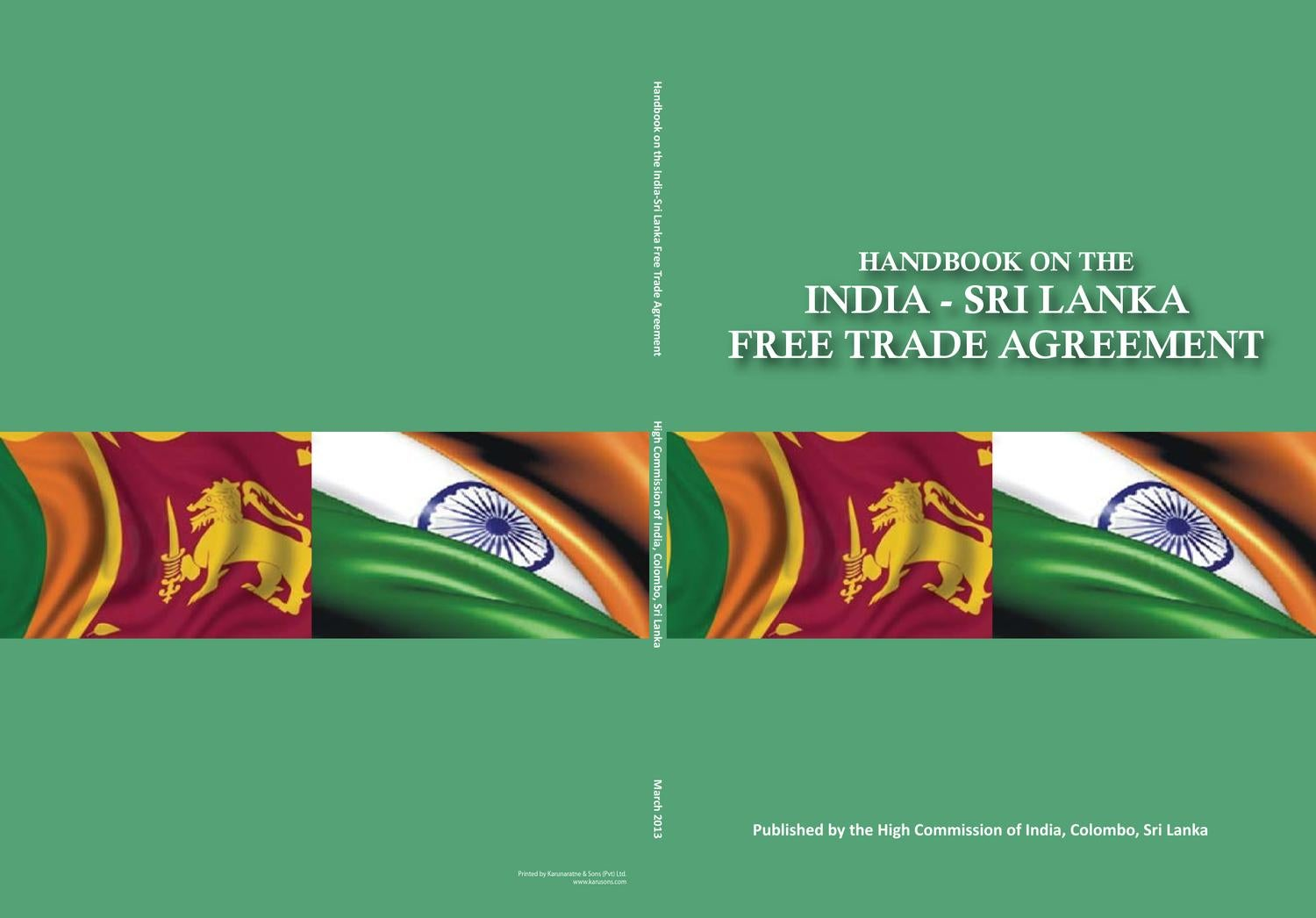 Handbook On The India Sri Lanka Free Trade Agreement By First