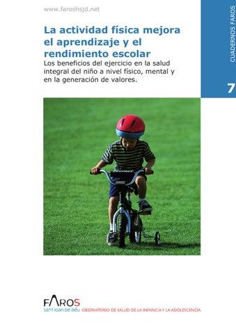 La actividad física mejora el aprendizaje y el rendimiento escolar Los  beneficios del ejercicio en la salud integral del niño a nivel físico dc53d2d4262ed