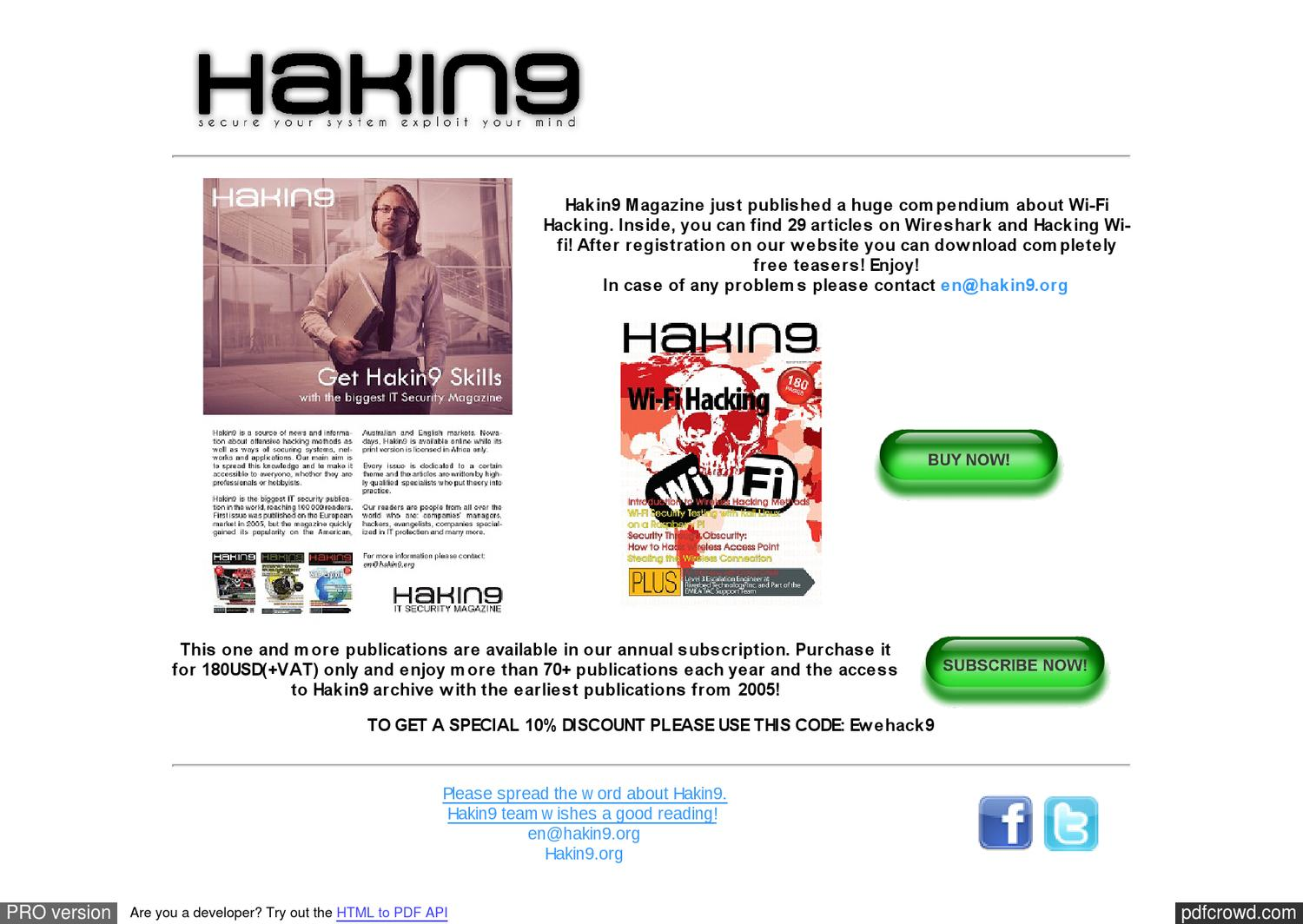 Free Download Hakin9 Magazine 2005 To 2013 Full Collection