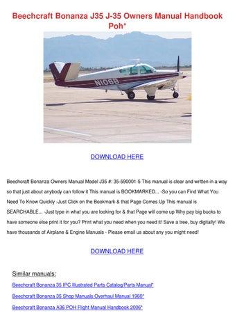 beechcraft bonanza j35 j 35 owners manual han by charlyn obst issuu rh issuu com Beech Bonanza A36 Specs Beechcraft Bonanza A36 Performance