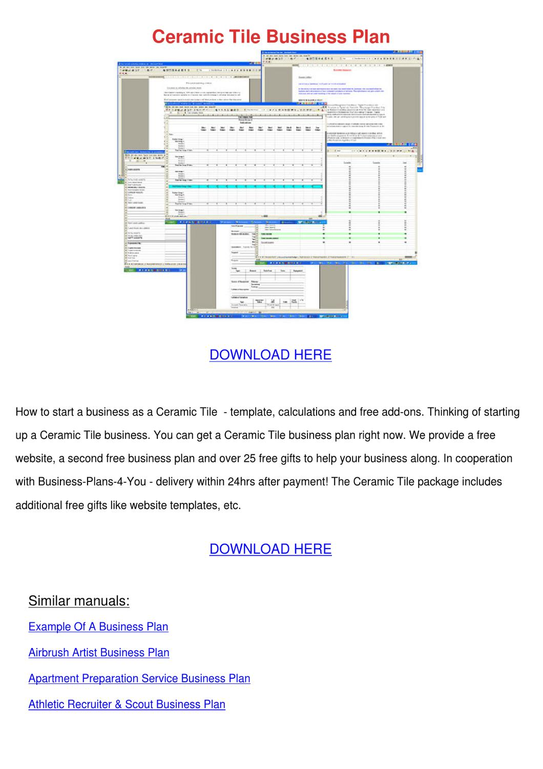 Ceramic Tile Business Plan by Alex Selmer - issuu