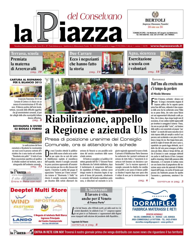 La Piazza del Conselvano - 2013apr n49 by lapiazza give emotions - issuu b594bddc09a
