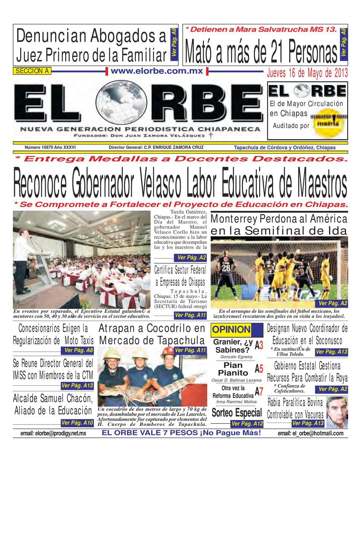 MAYO 16 DE 2013 by elorbe orbe - issuu