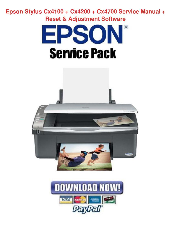 Epson Stylus Cx4100 Cx4200 Cx4700 Service Man By Alex Selmer