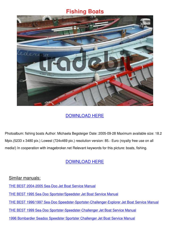 seadoo challenger manual download
