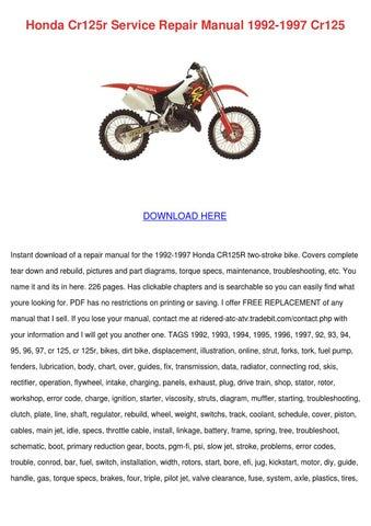 honda cr125r service repair manual 1992 1997 by randi reedus issuu rh issuu com 1998 honda cr125r owners manual 2003 honda cr125 owners manual