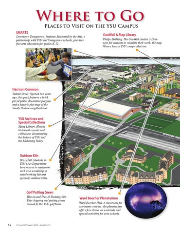 Youngstown State University Campus Map.Forever A Penguin Ysu Spring 2013 Alumni Magazine By Youngstown