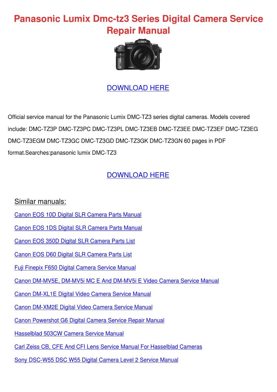 Panasonic Lumix Dmc Tz3 Series Digital Camera By Francie Carasco
