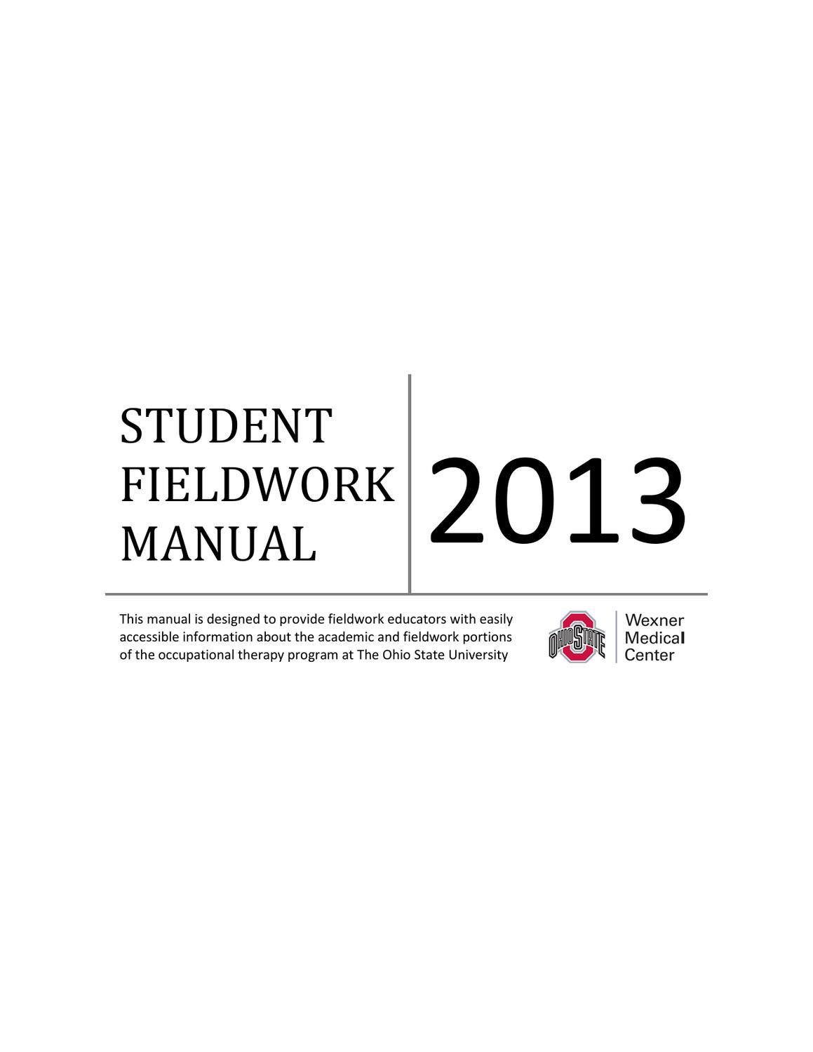 Fieldwork Manual 2013 By Cristina Capretta Issuu