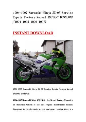 kawasaki ninja zx 9r 1997 repair service manual