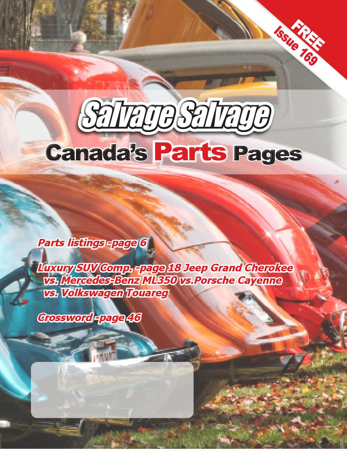 Salvage Canadas Parts Pages By The Mercedes Benz Ml350 2005 Magazine Issuu