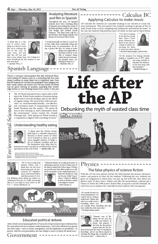 Tiger Newspaper May 16, 2013