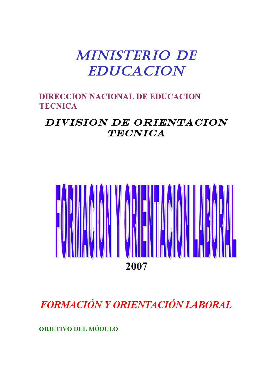 Formación y Orientación Laboral by MARIELENA TIERRA - issuu