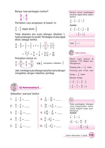 Kunci Jawaban Buku Gemar Matematika Kelas 6 Hal 61 Uji Keterampilan 3 Sanjau Soal Latihan Anak