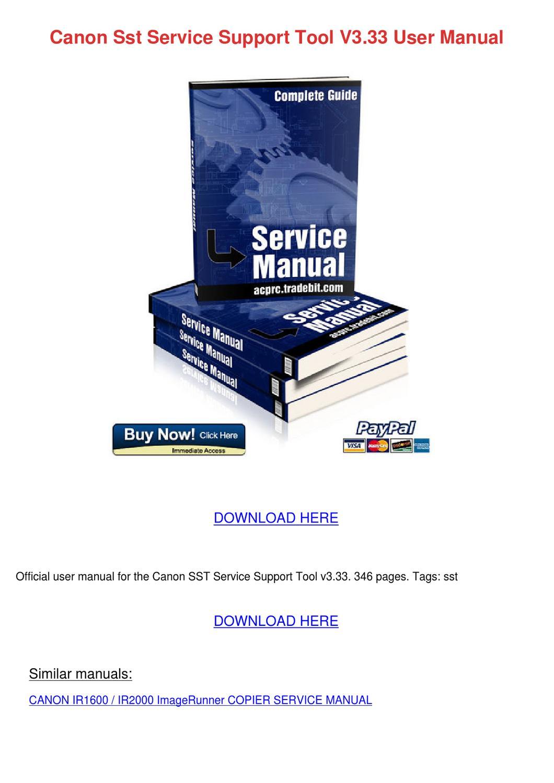 Canon Dr 4080u Desktop Scanner Service Manual